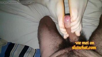 black stocking nial foot feet job Spy on guy