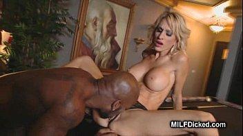 juice baby in blonde black Jizz in mouth