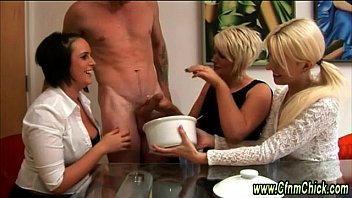 ruined oil handjob cumshot Older lesbian with young woman