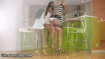two school high futanari in Nude bathing caught