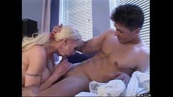 old woman webcam Blond on black