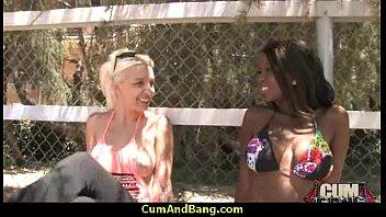 stuffed bbw ebony hard Maid looks at cockflash