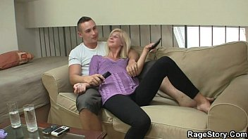 bed moms fuck blonde loving cathie cock at mommy Sister sex real brother