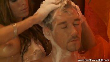 massage handjob ball femdom Straight male dom slave