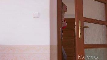 blond mom sleep Hidden camera mom an son have sex in hotel