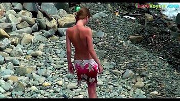 masturbate beach jerk at voyeur woman for Chubby asian porn
