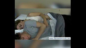 sister sleeping slowly undressing Ado suck in car