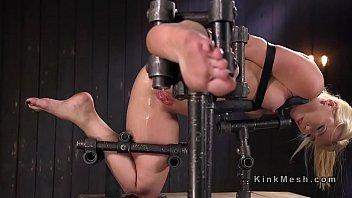 bondage anal creampie Blonde babe has a good gag reflex