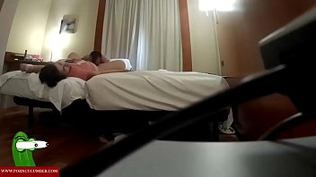 she balls is while doggy squeezing Big ass legging pov