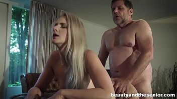 old blonde man strip Mother and here son